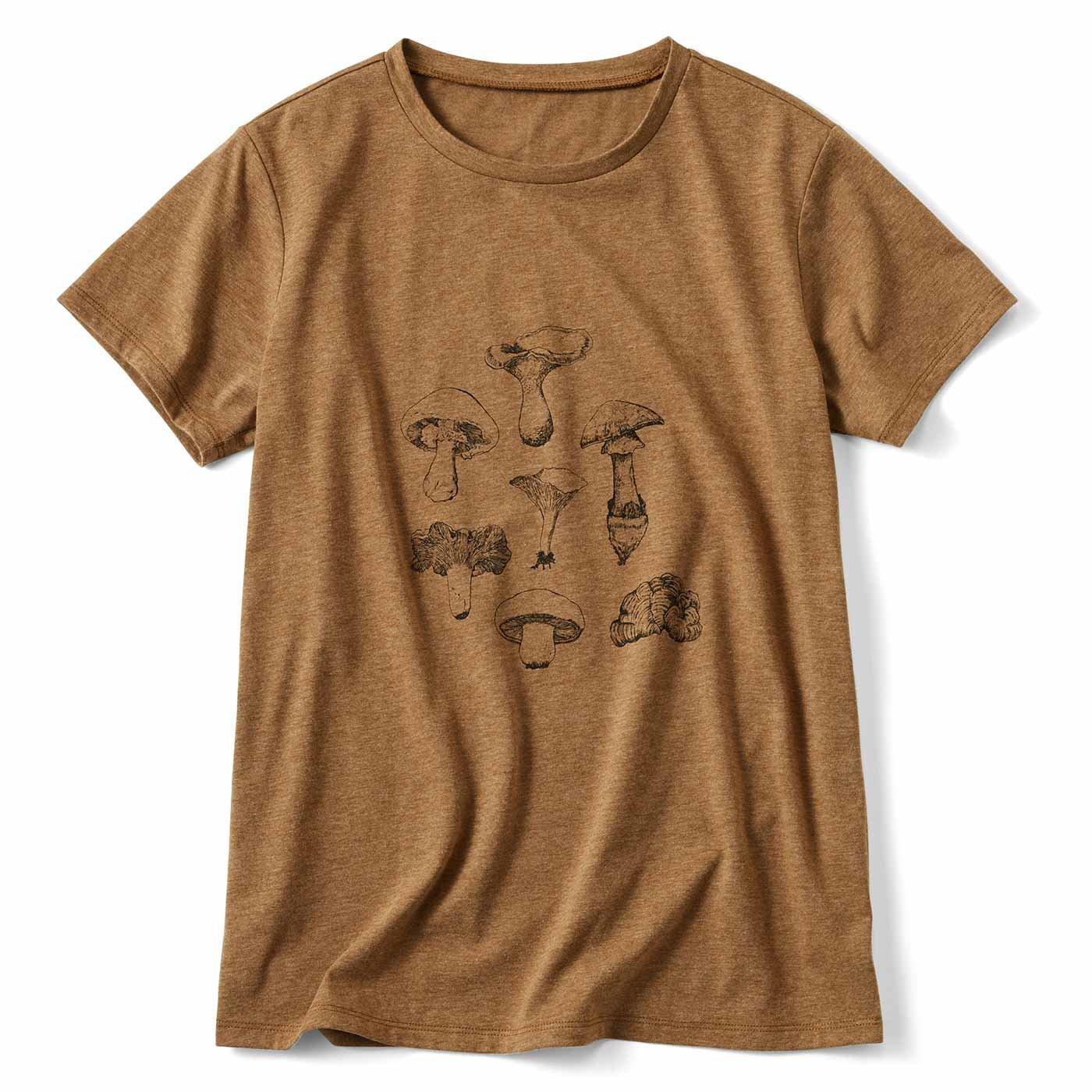 きのこ! プリントTシャツ
