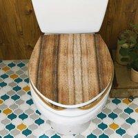 フェリシモ 貼るだけで簡単リメイク カットできるトイレふたカバー〈木目柄〉の会