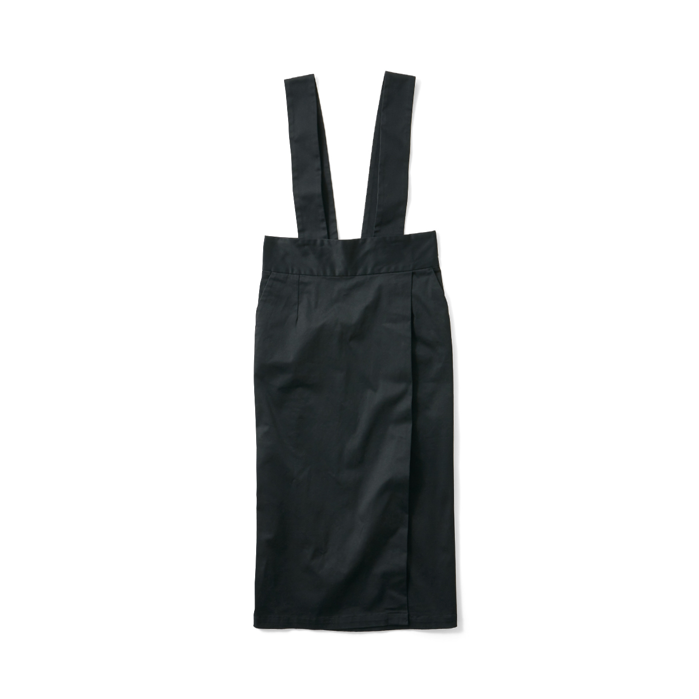 フェリシモ avecmoi サスペンダー付きスカート〈ブラック〉