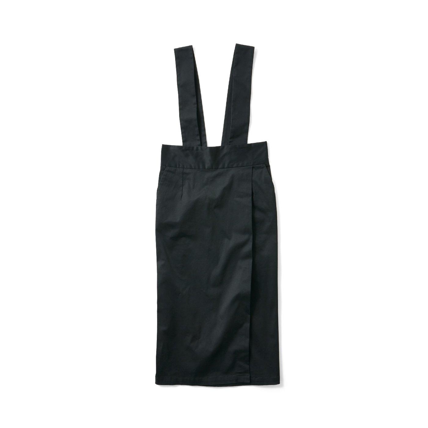 avecmoi サスペンダー付きスカート〈ブラック〉