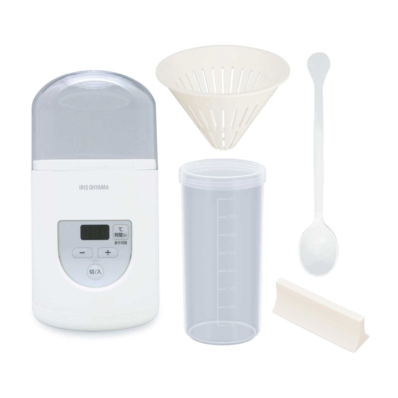 お届けセット一式 本体、水切りカップ、容器、計量スプーン、牛乳パック用ふた
