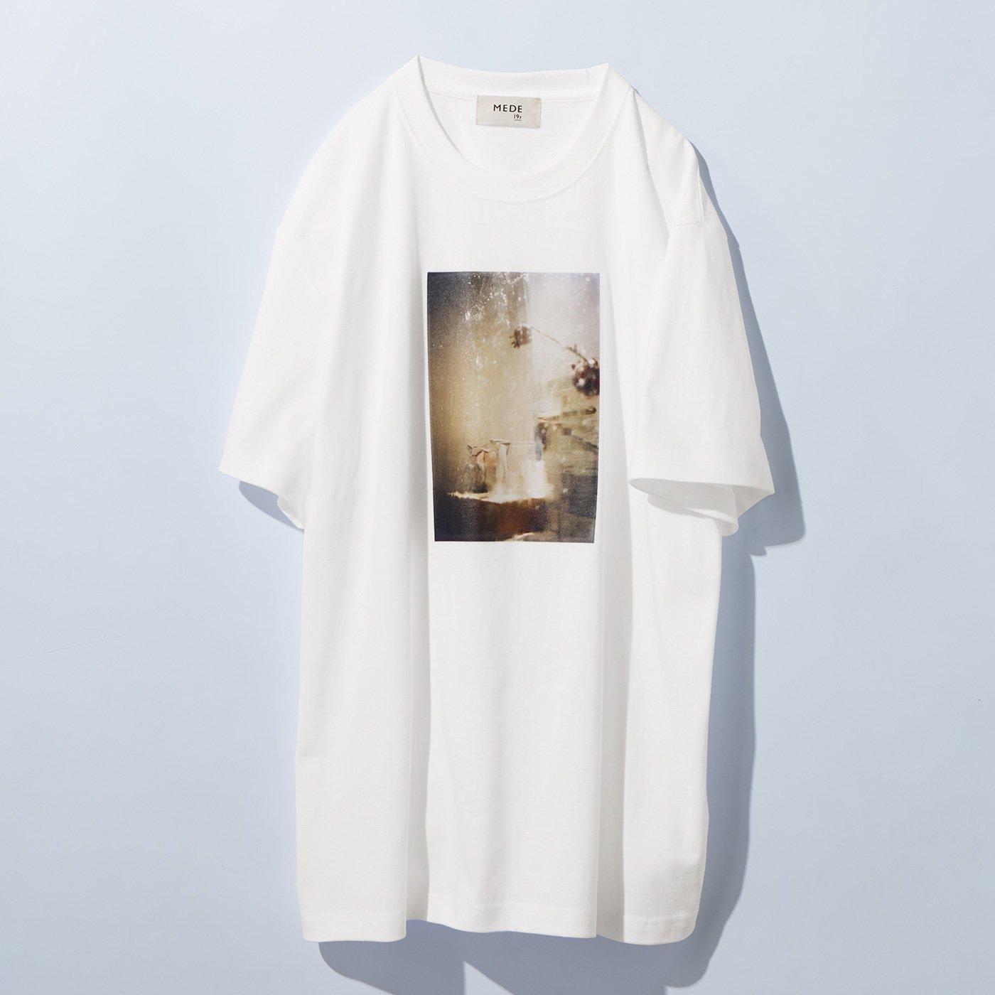 【高瀬真奈さんコラボ】MEDE19F フォトプリントTシャツ〈レディース〉〈ホワイト〉