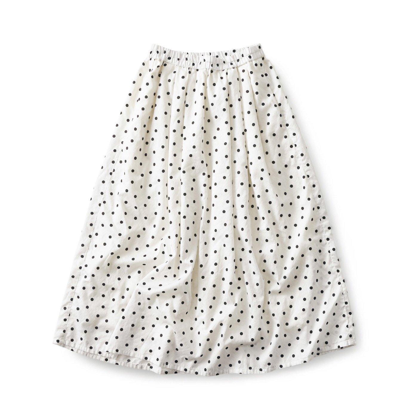 and myera 水玉模様のスカート