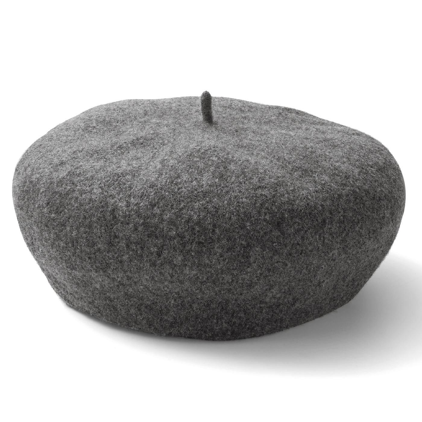 リブ イン コンフォート パッとかぶるだけで素敵に決まる ファーストベレー帽〈グレー〉
