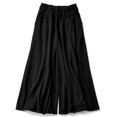 RoomClip商品情報 - スカート気分の微起毛やわらかカットソーガウチョ〈ブラック〉 リブ イン コンフォート フェリシモ FELISSIMO