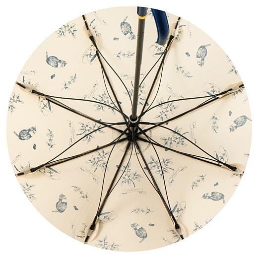 傘を広げるとお花の形に開く、しなやかなさくら骨で開閉スムーズ。