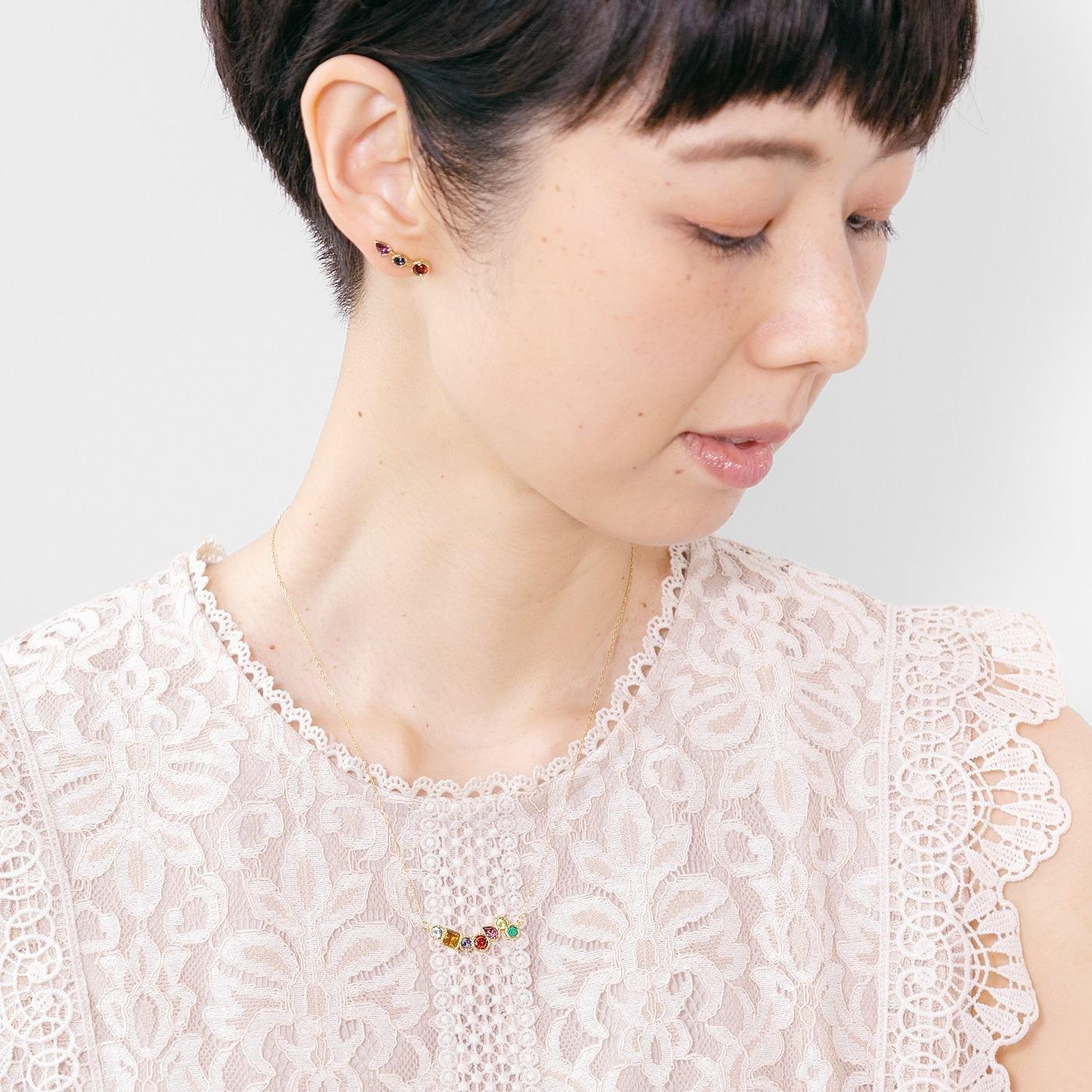 UP.de 7色の石のお守り アミュレット感覚のネックレス