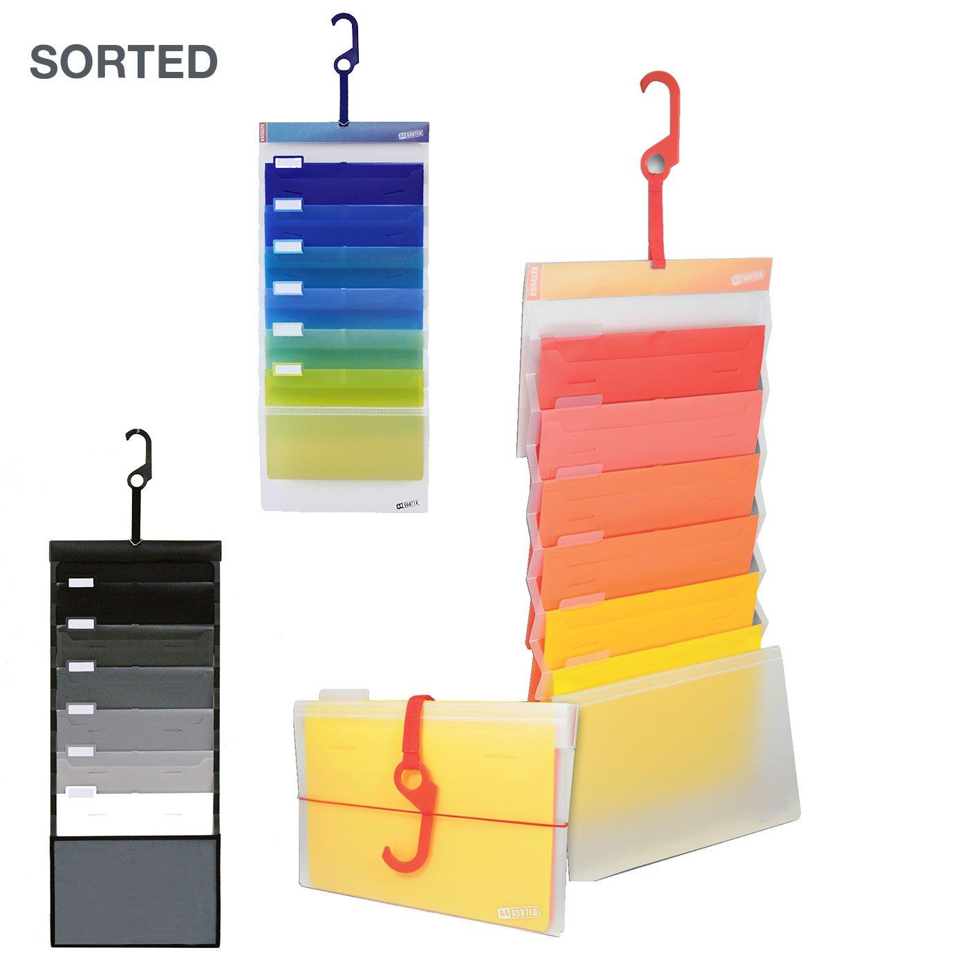 つり下げてもたたんでも使える書類整理ケース ソーテッド(A4サイズ6段)