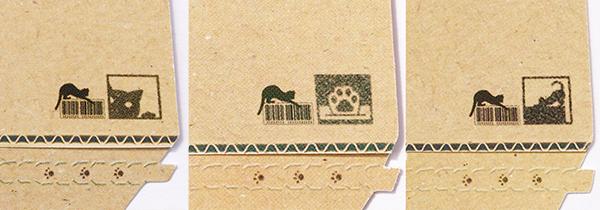 箱のマークもデザインによって違うんです。