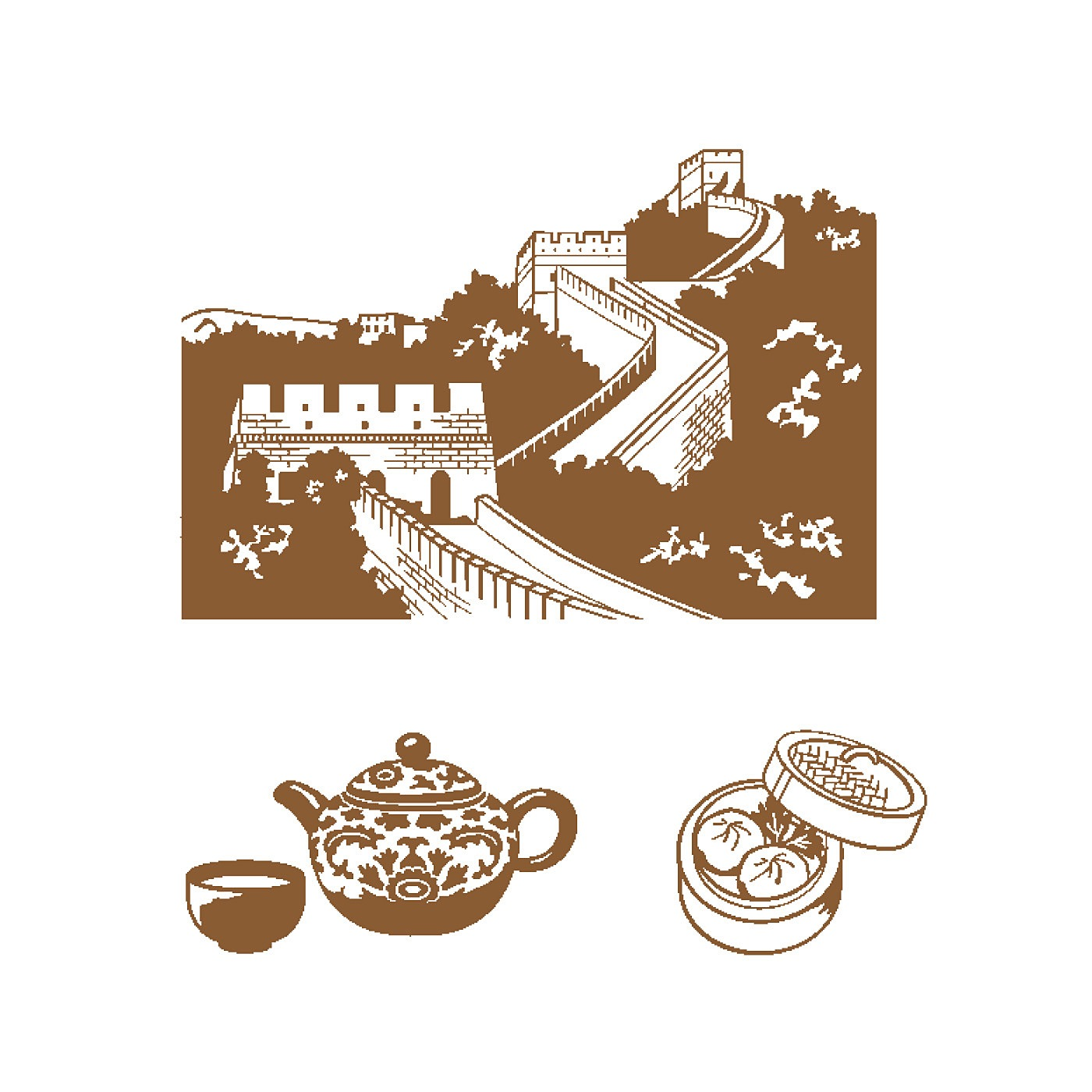 〈中国/万里の長城〉