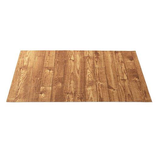 敷くだけでレトロハウスのウッドデッキのよう カットできる木目プリントシートの会