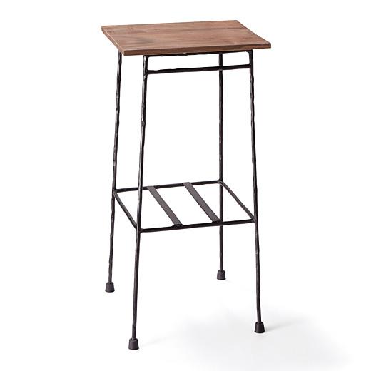 フェリシモ 少し背の高い ちょい置きマイカフェテーブル<ブラック>の会