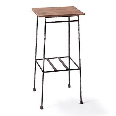 少し背の高い ちょい置きマイカフェテーブル〈ブラック〉の会 フェリシモ FELISSIMO【送料無料】