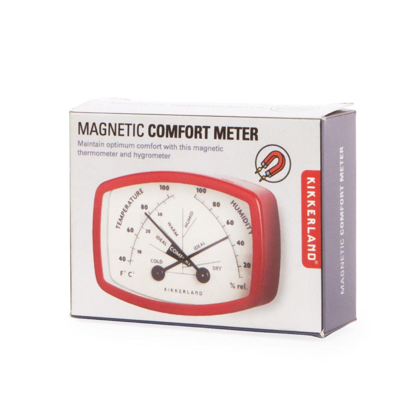 Kikkerland レトロ感が好き マグネットでつく 温度湿度計