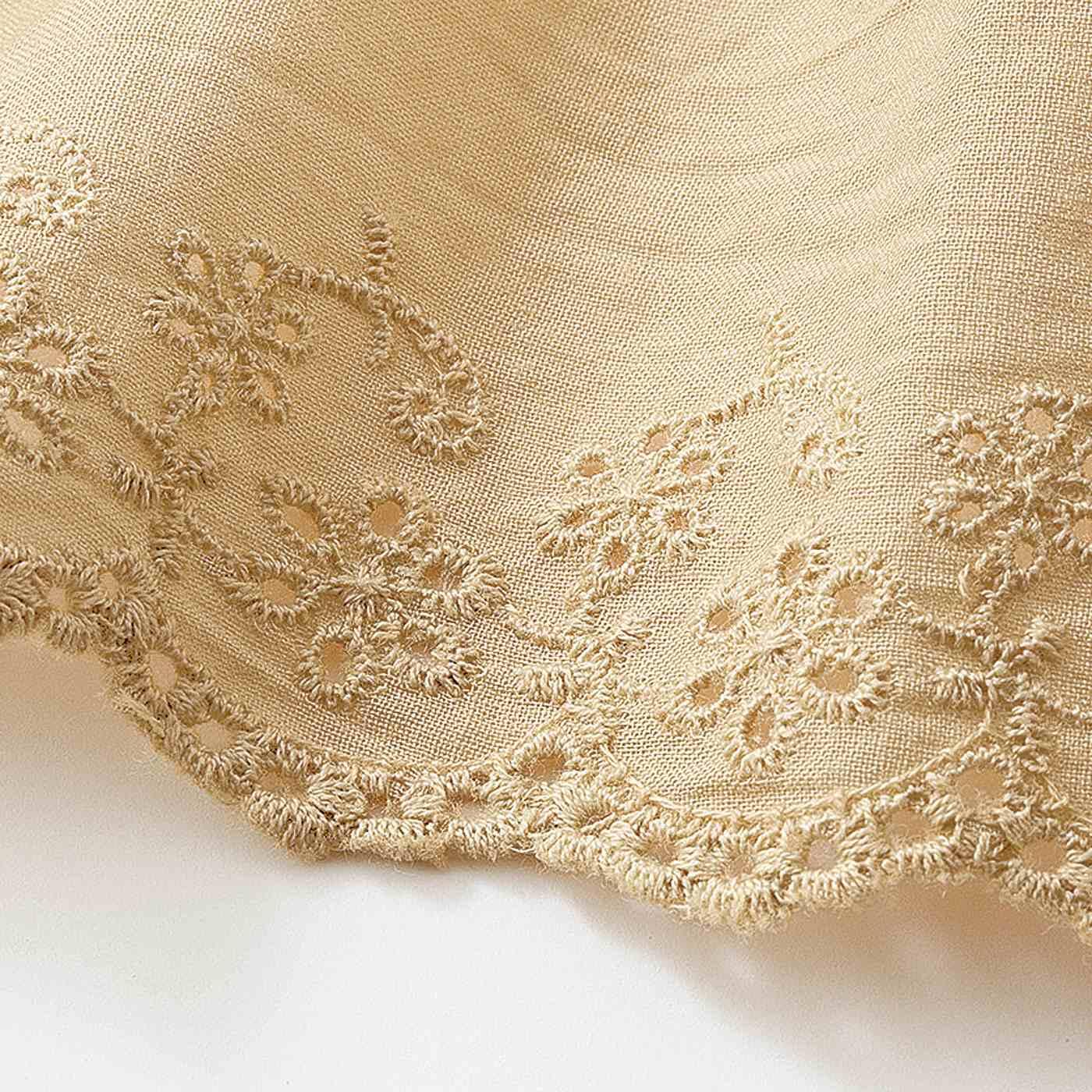 スカート部分はさらりと快適な綿100%の布はく素材。