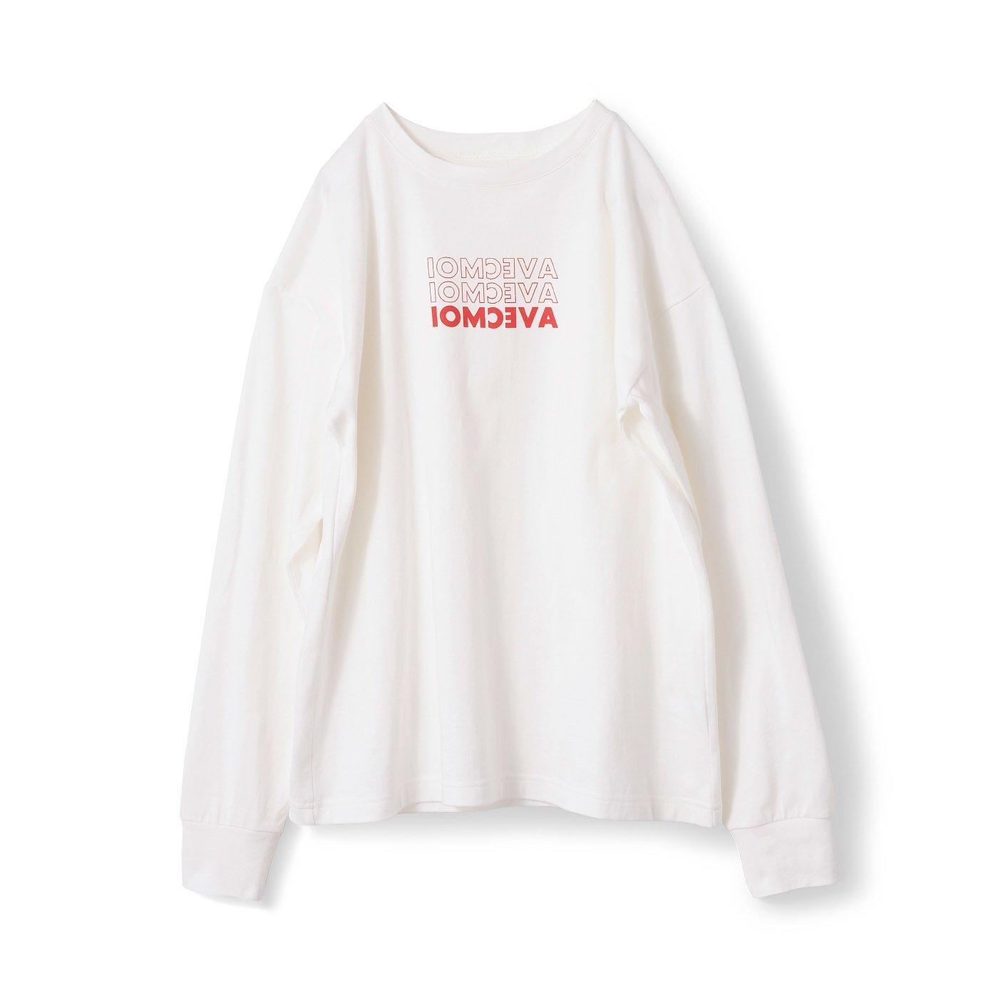 アヴェクモワ ロゴTシャツ〈白〉