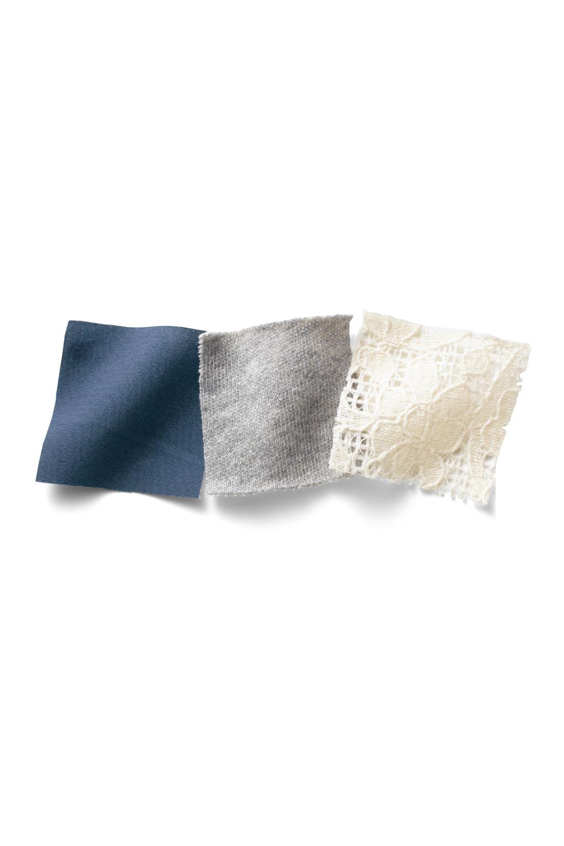 肌にふれるトップス部分はやわらかく伸びやかなミニ裏毛素材。スカート部分はほどよいハリのある軽やかなコットン。 ※お届けするカラーとは異なります。