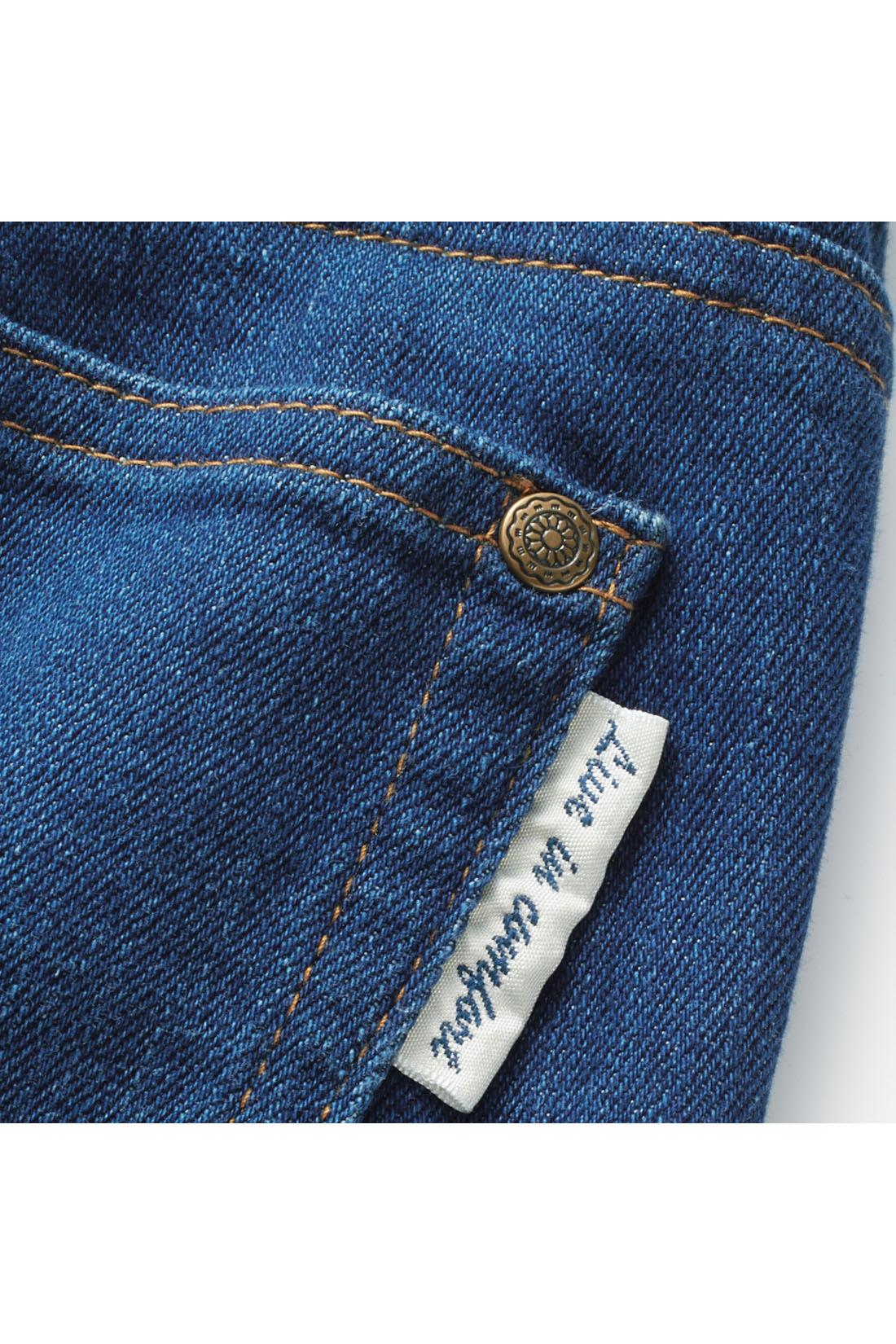 バックポケットにはピスネーム付き。 ※お届けするカラーとは異なります。