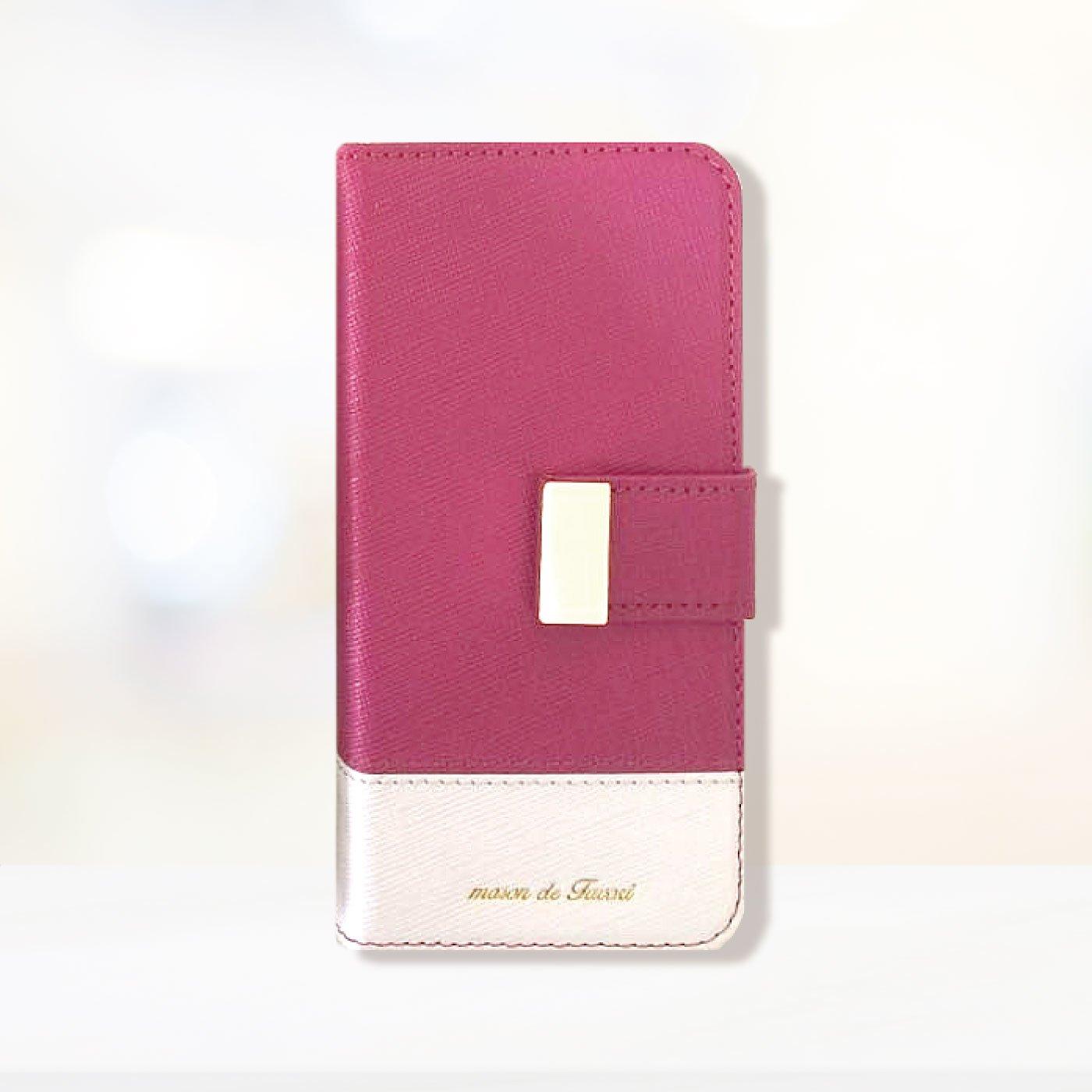 iphone6s/6/7/8 手帳型スマホカバー 2トーンベーシック