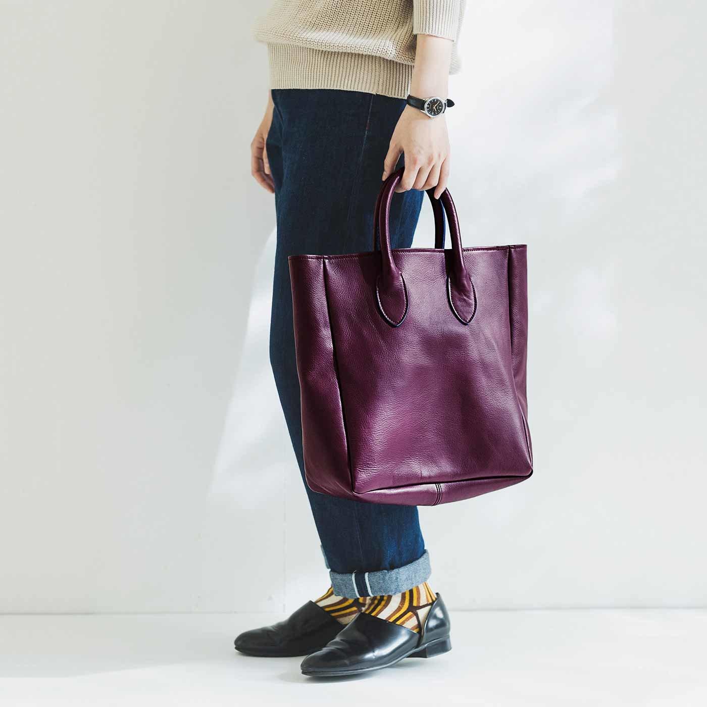 プランナーMOEが作った 職人本革のロイヤルティバッグ〈ボルドー〉[本革 鞄:日本製]