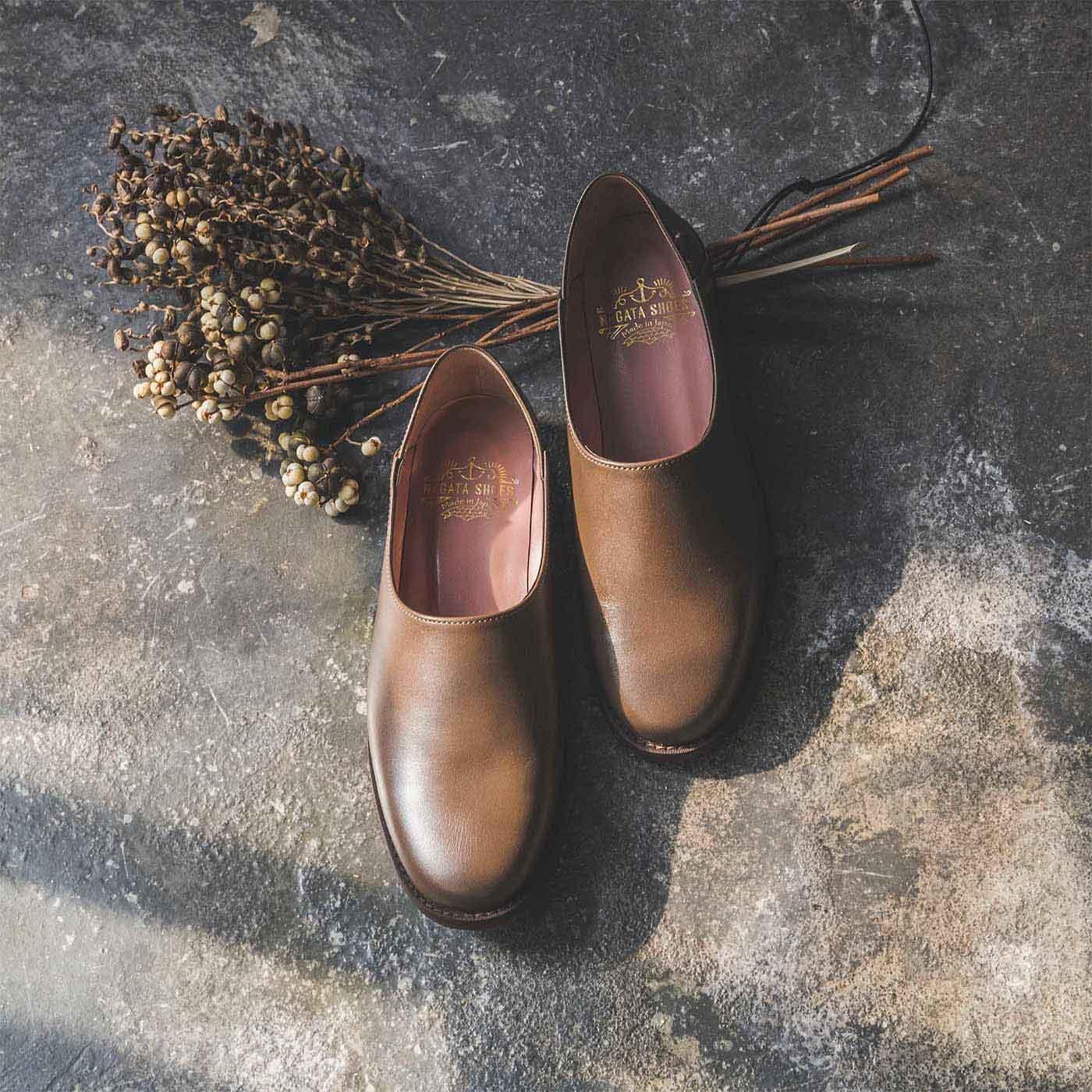 ファッションスタイリストと作った 職人本革のスタイリストシューズ〈グリー・テルー〉[本革 靴:日本製]