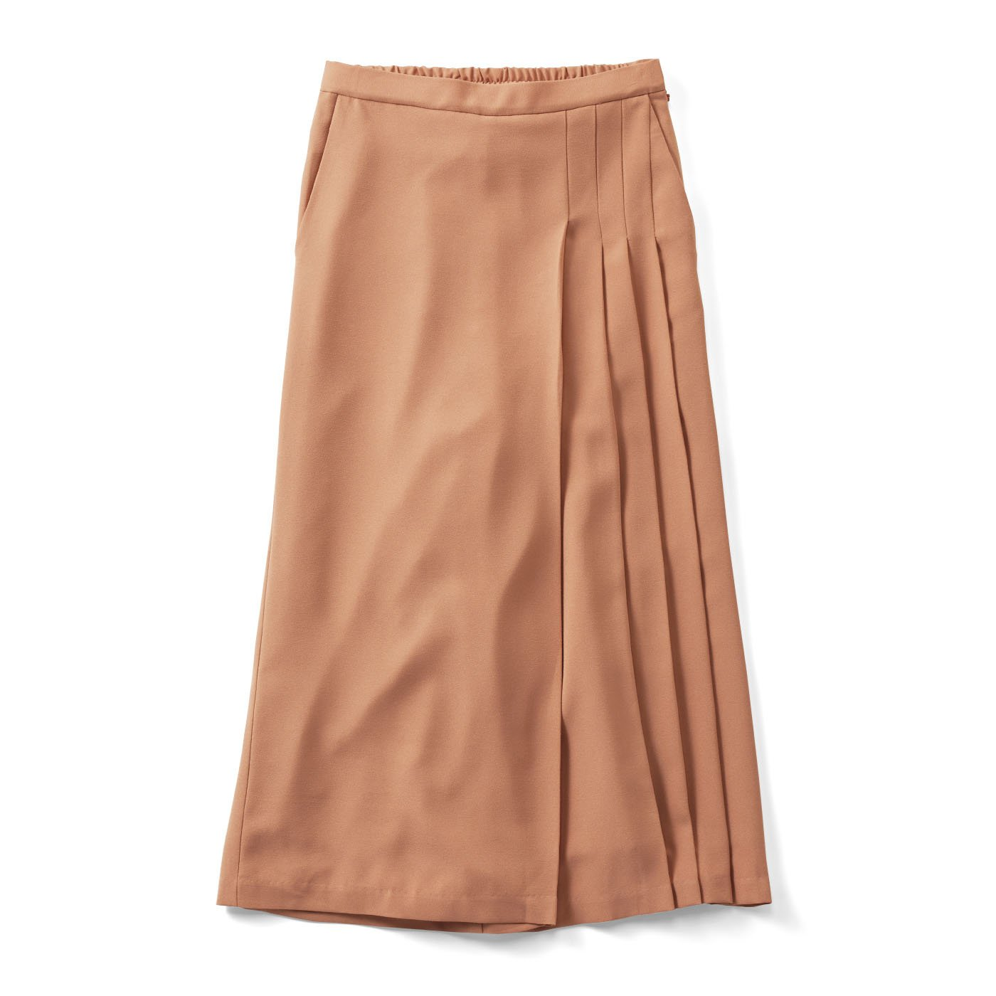 IEDIT 華やぎカラーの部分プリーツデザインスカーチョ〈モカピンク〉