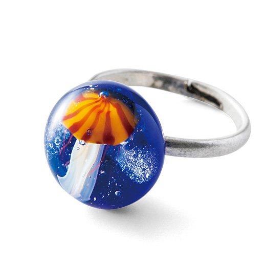 YOU+MORE! 暗闇で光る海の結晶 ガラスのクラゲ指輪の会