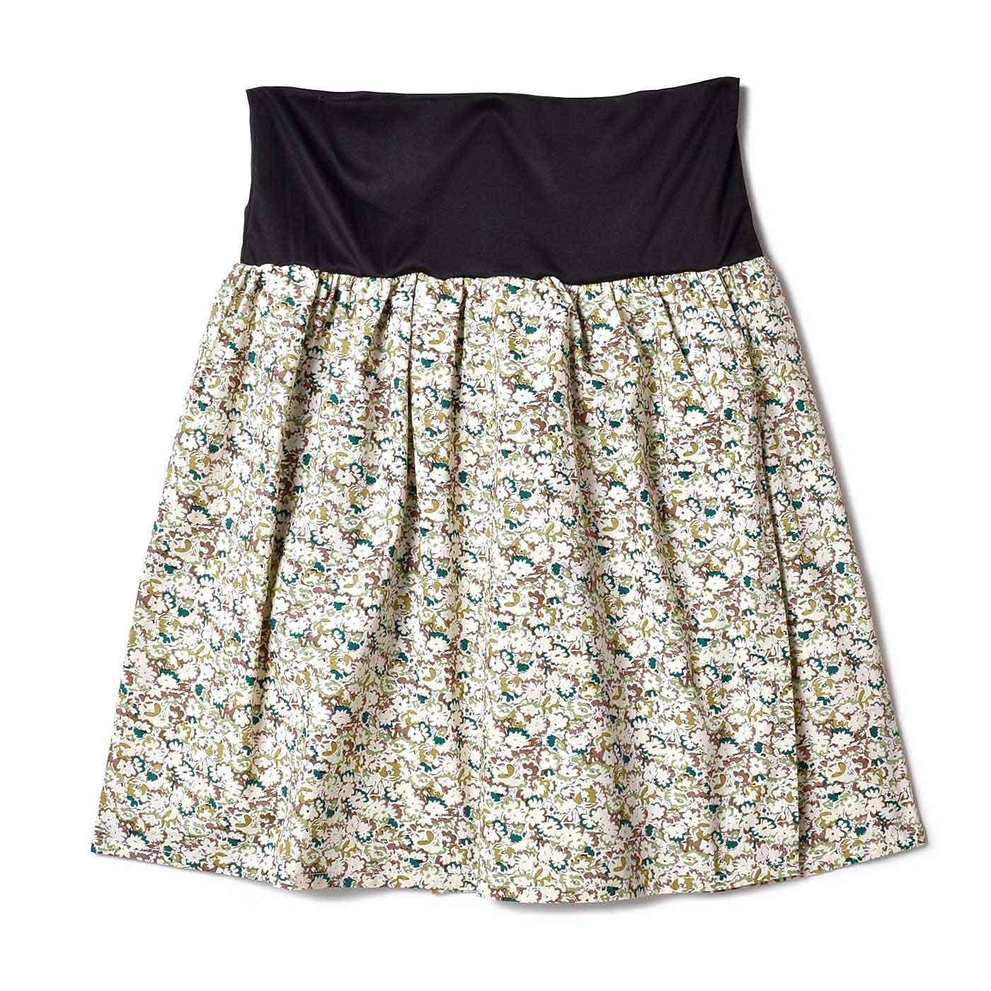 フェリシモ おなかフィッター内蔵 花柄ラップスカート〈12〉