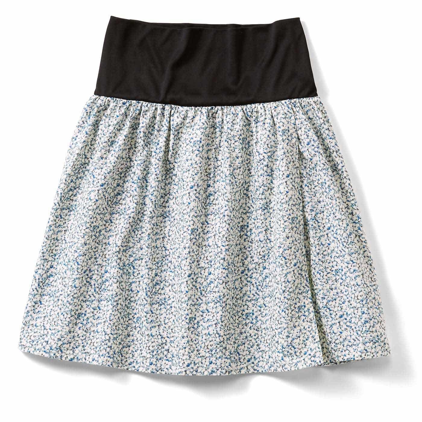 おなかフィッター内蔵 花柄ラップスカート〈14〉