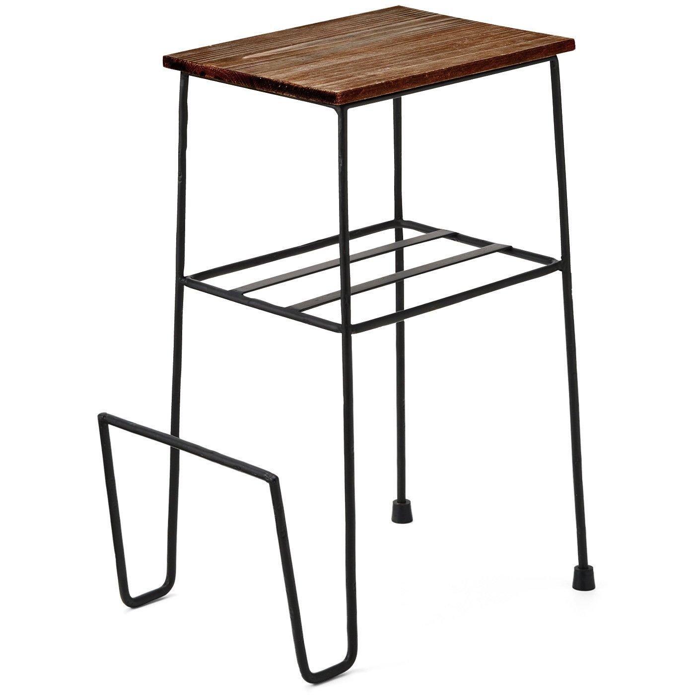 便利に使えるブックホルダー付きミニテーブル