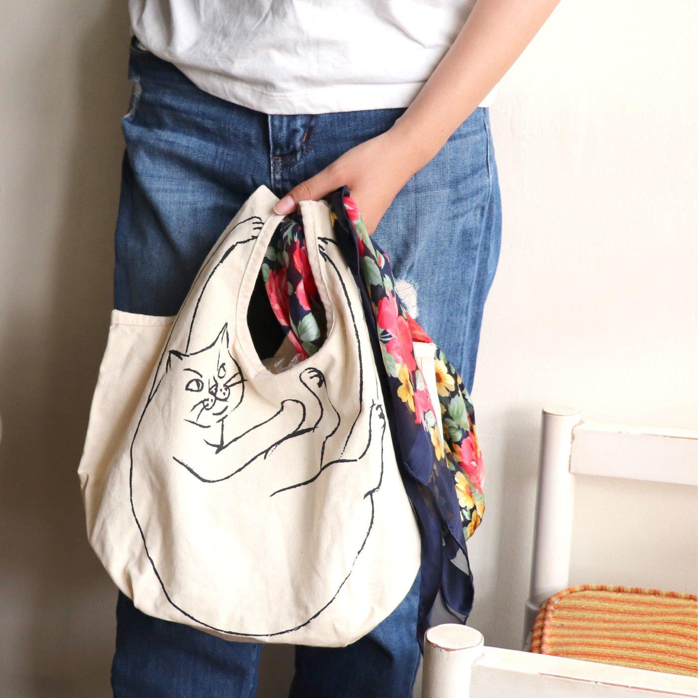 小さめコンビニサイズ ポケット付きが便利な ルーショッパーミニマルシェ