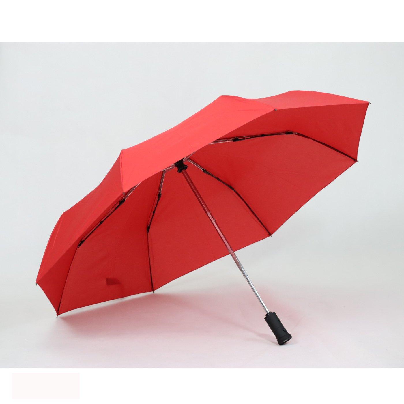 ワンプッシュでパッと開閉 LEDライト付き折りたたみ傘