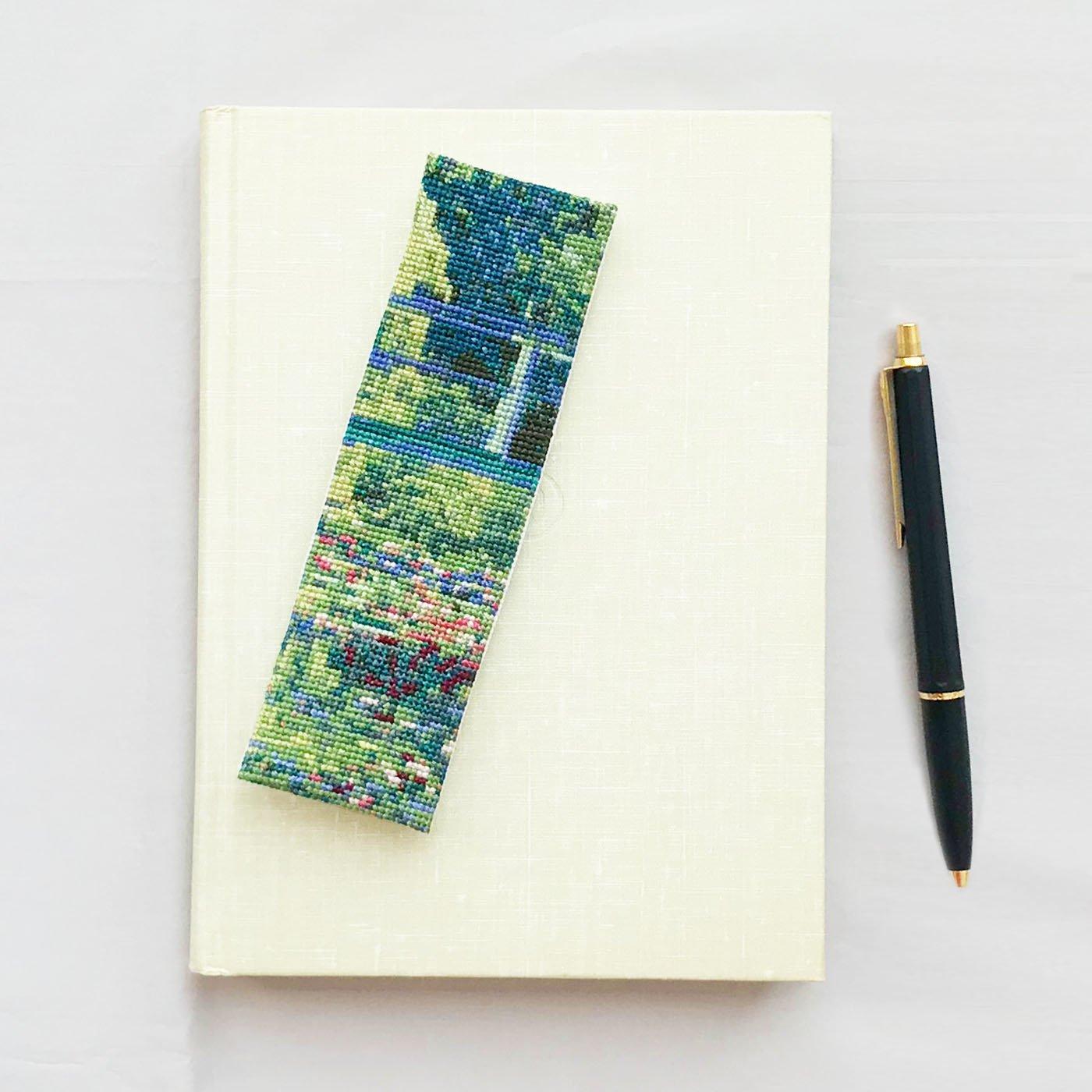 美しさに魅せられて クロード・モネ「睡蓮の池」(小)クロスステッチキット