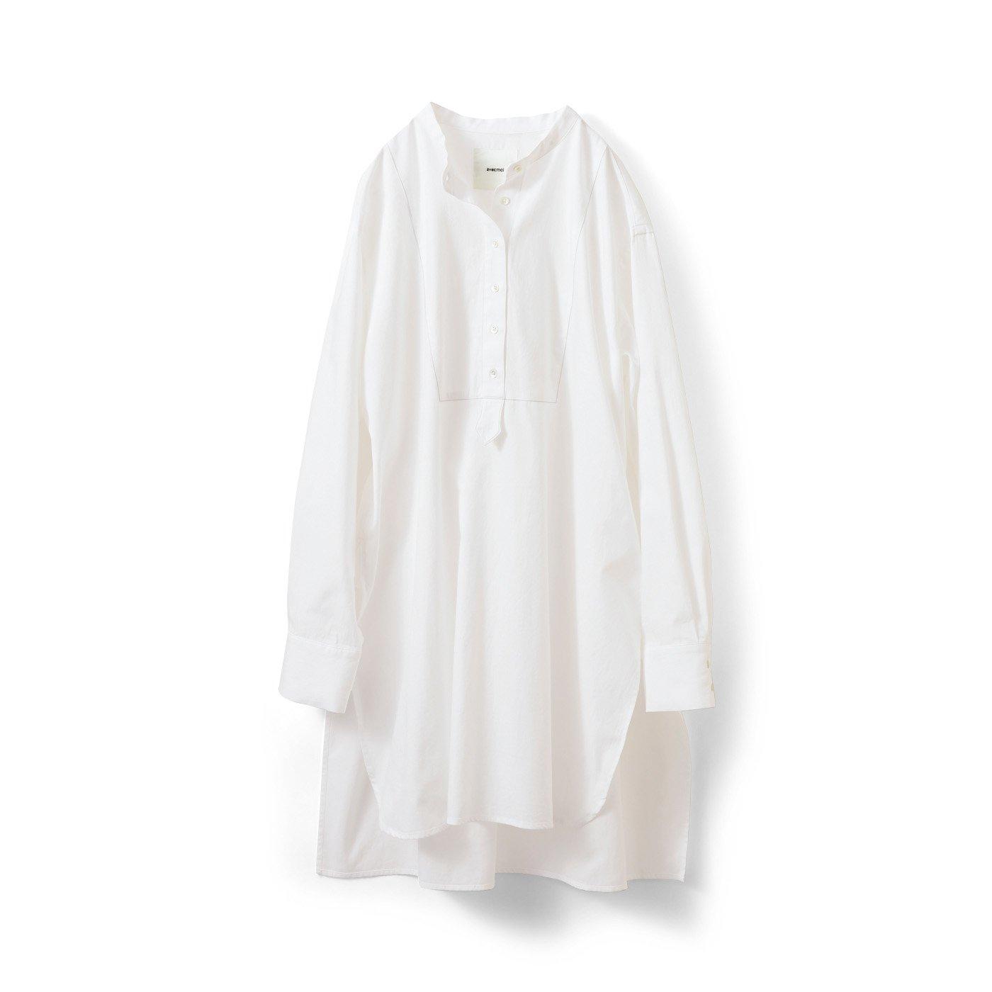 アヴェクモワ スリットロングシャツ〈白〉