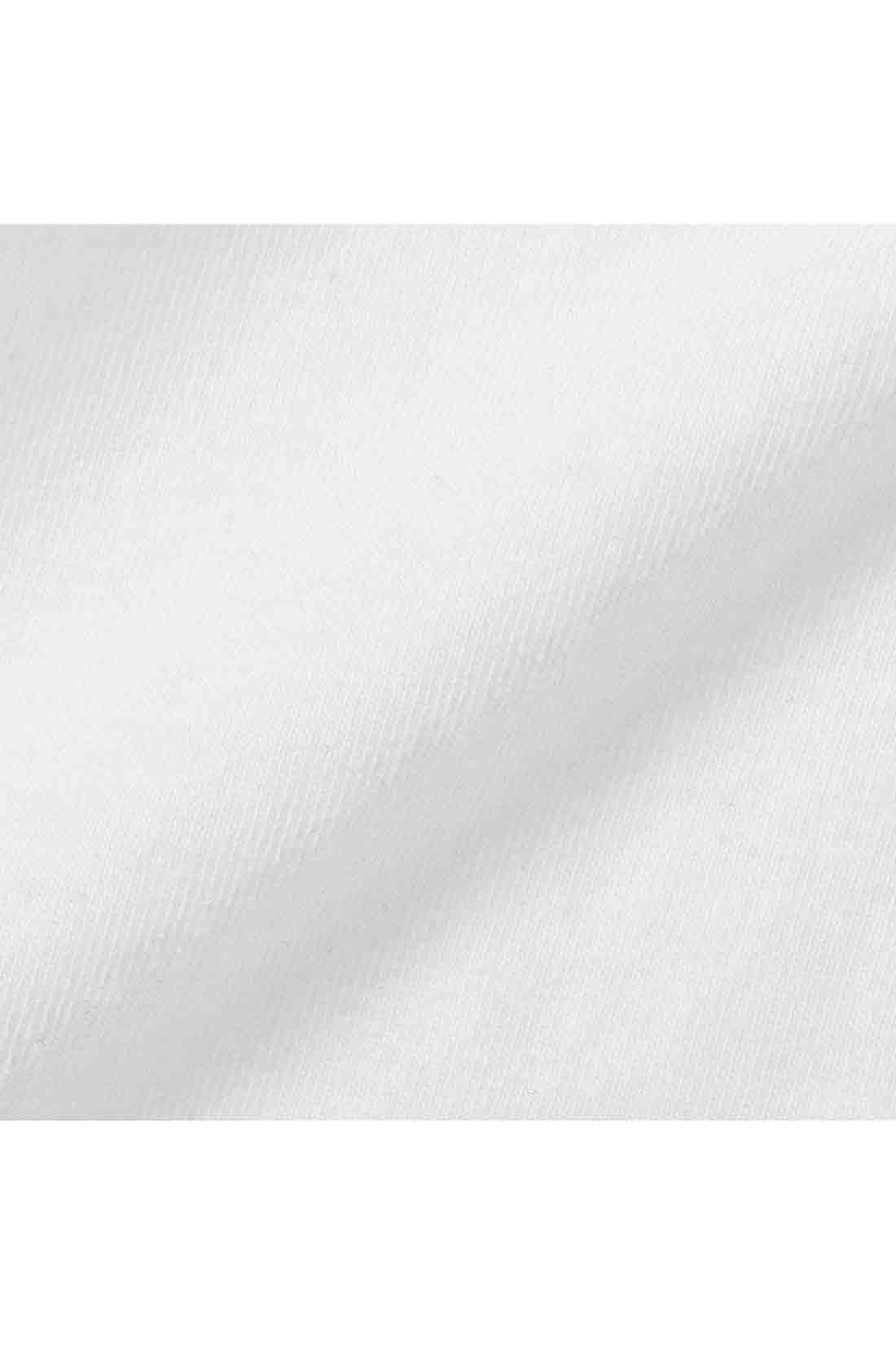 タンクの身生地は綿混で伸びやかなカットソー素材。