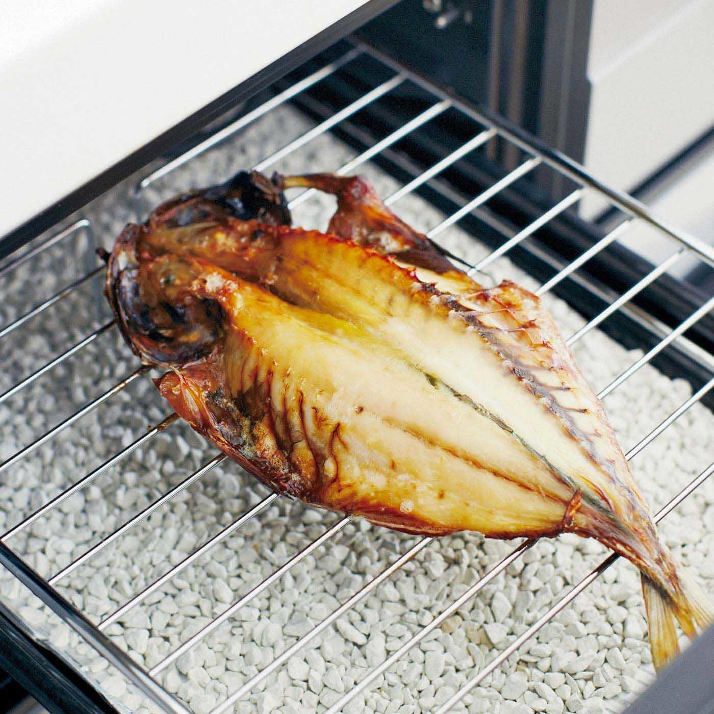 ママにキス お手入れラクラク  魚がおいしく焼ける石の会