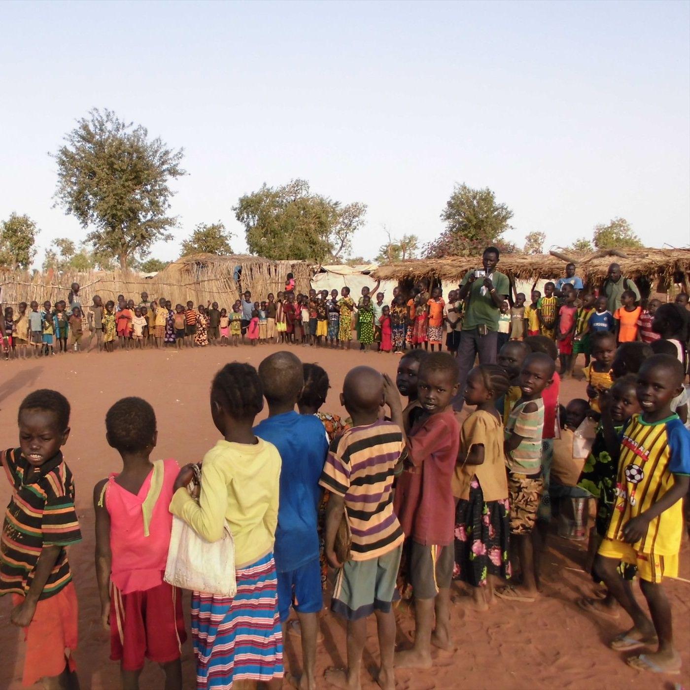 (C)JVC難民キャンプの幼稚園の様子