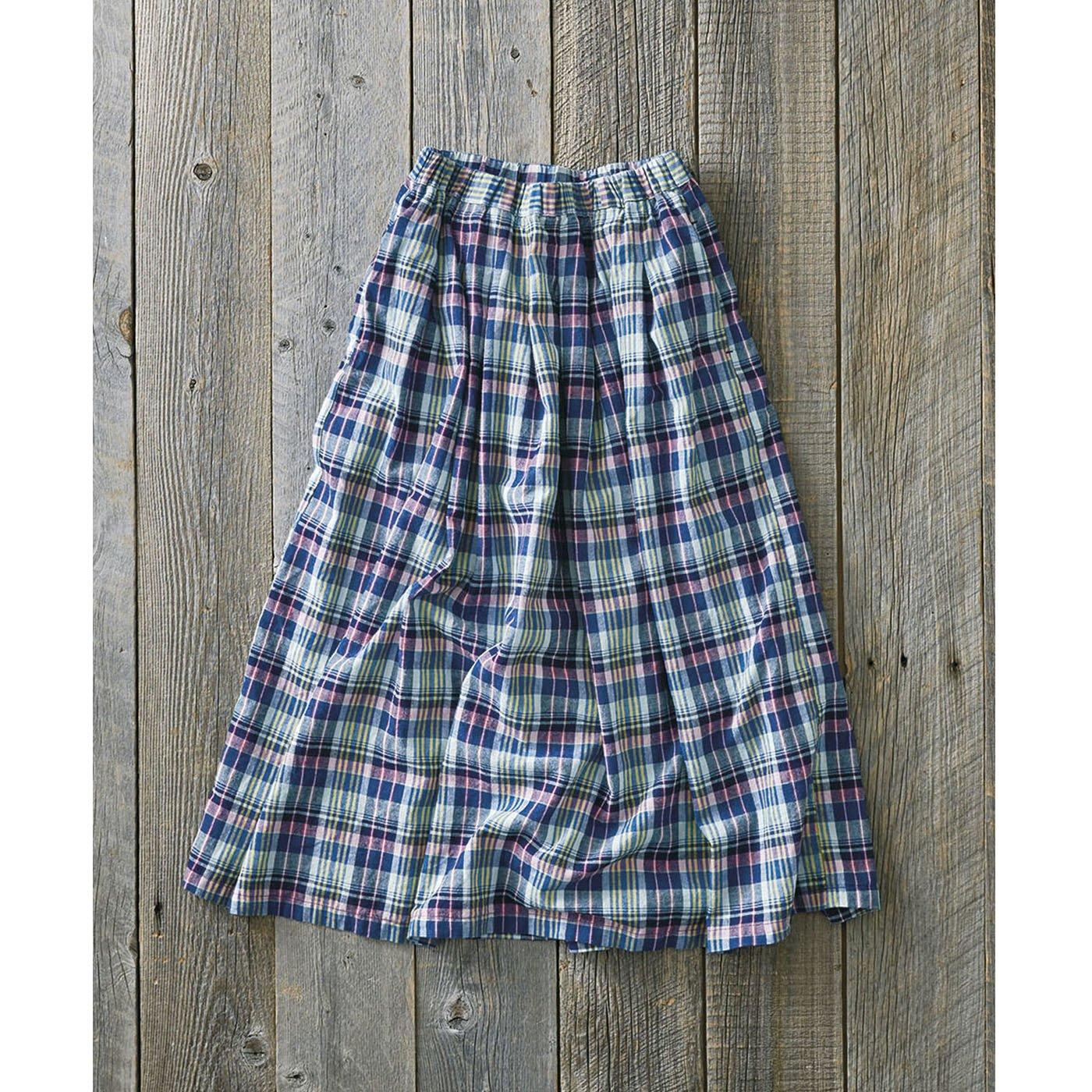 サニークラウズ 蚤ノ市で見つけたマドラススカート<レディース>