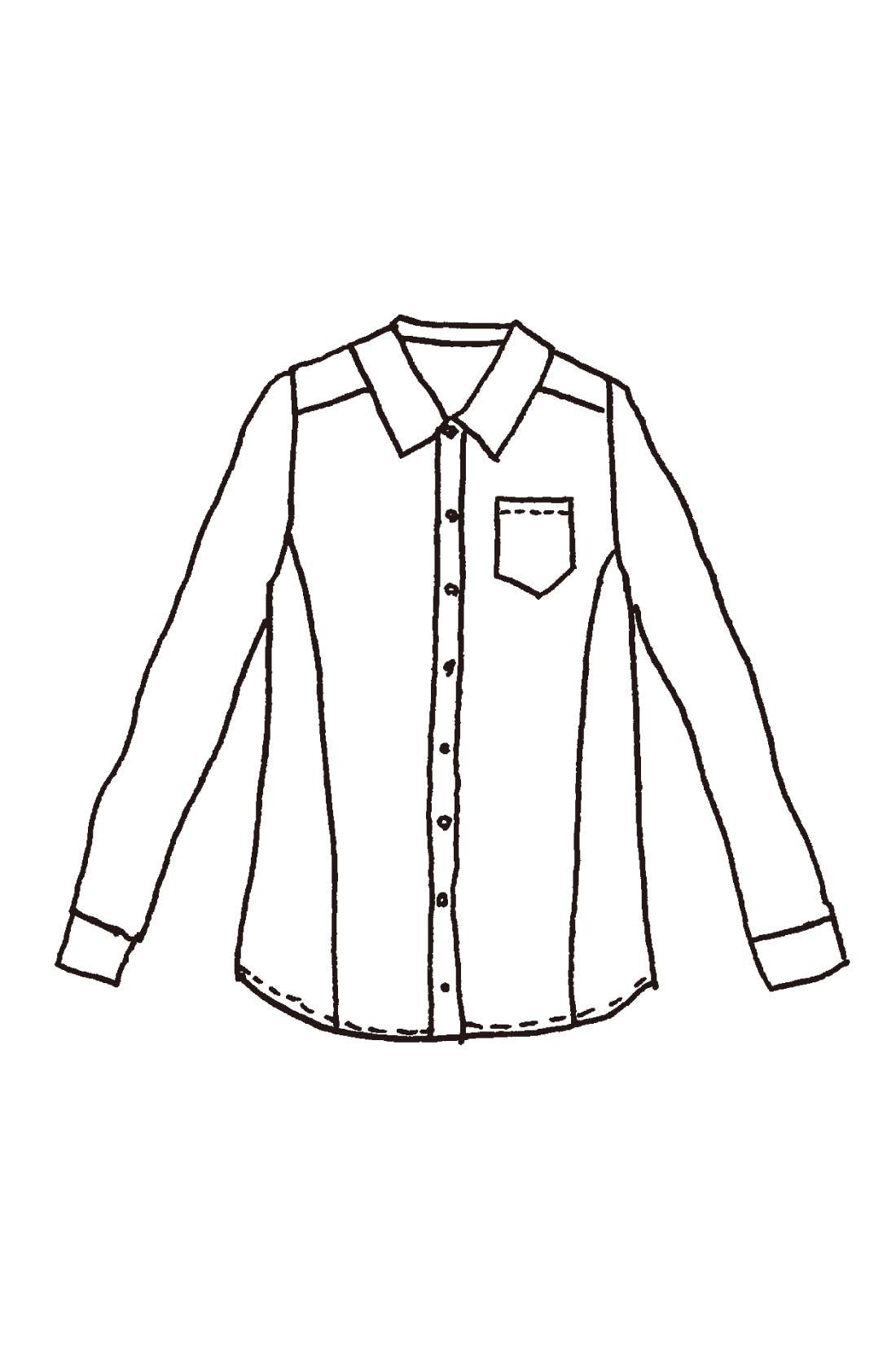 切り替えを前寄りに入れて細見せを実現。重ね着してももたつかない、ジャストサイズも着まわしやすさのポイントです。