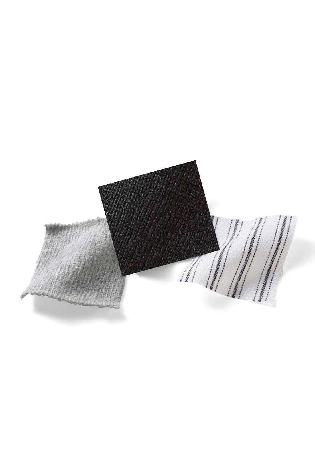 カットソーは度詰めして張り感を出したオーガニックコットン100%。肌心地がいいうえに長く使えます。ストライプの袖口は布はく素材できちんと感アップ。 ※お届けするカラーとは異なります。