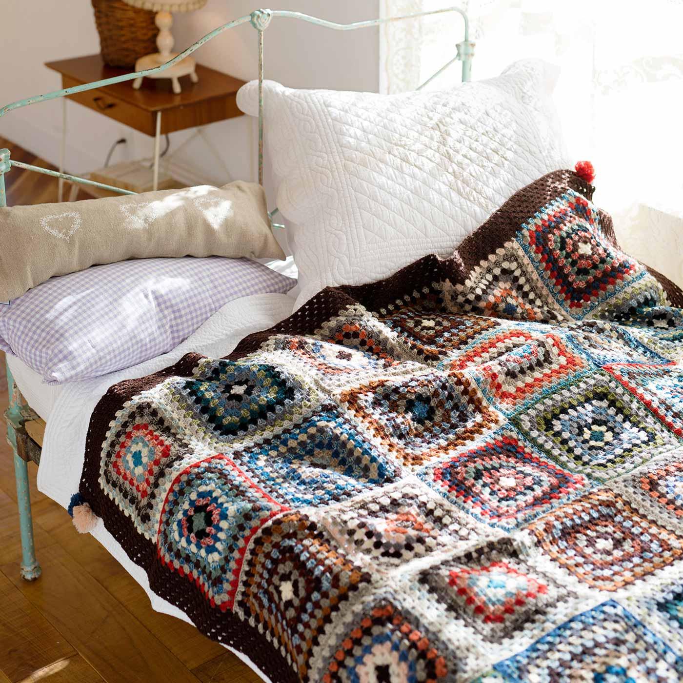 ニットブランケットのふち編み用毛糸セット