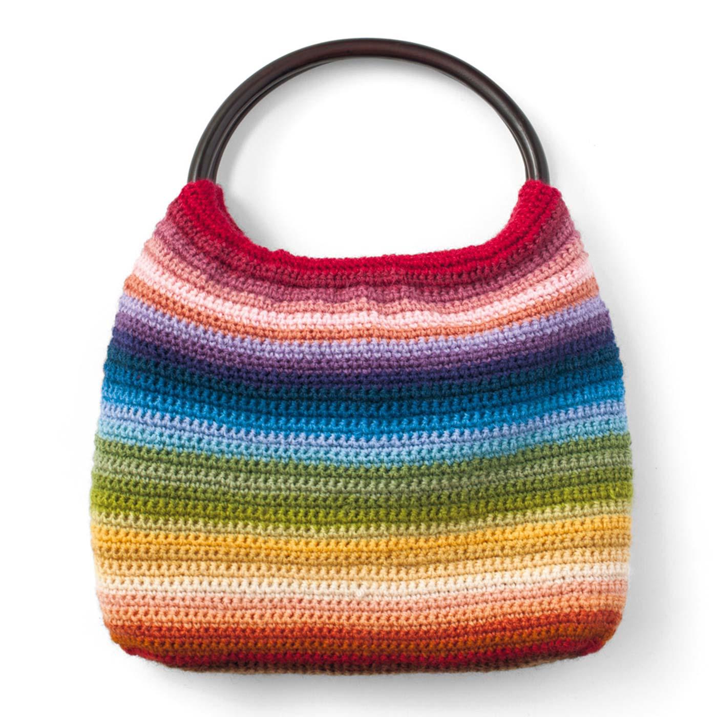 30色を使って、縦約19.5cm、横約25.5cmのバッグが作れます。(作り方説明書付き。持ち手はセットに含まれません。)