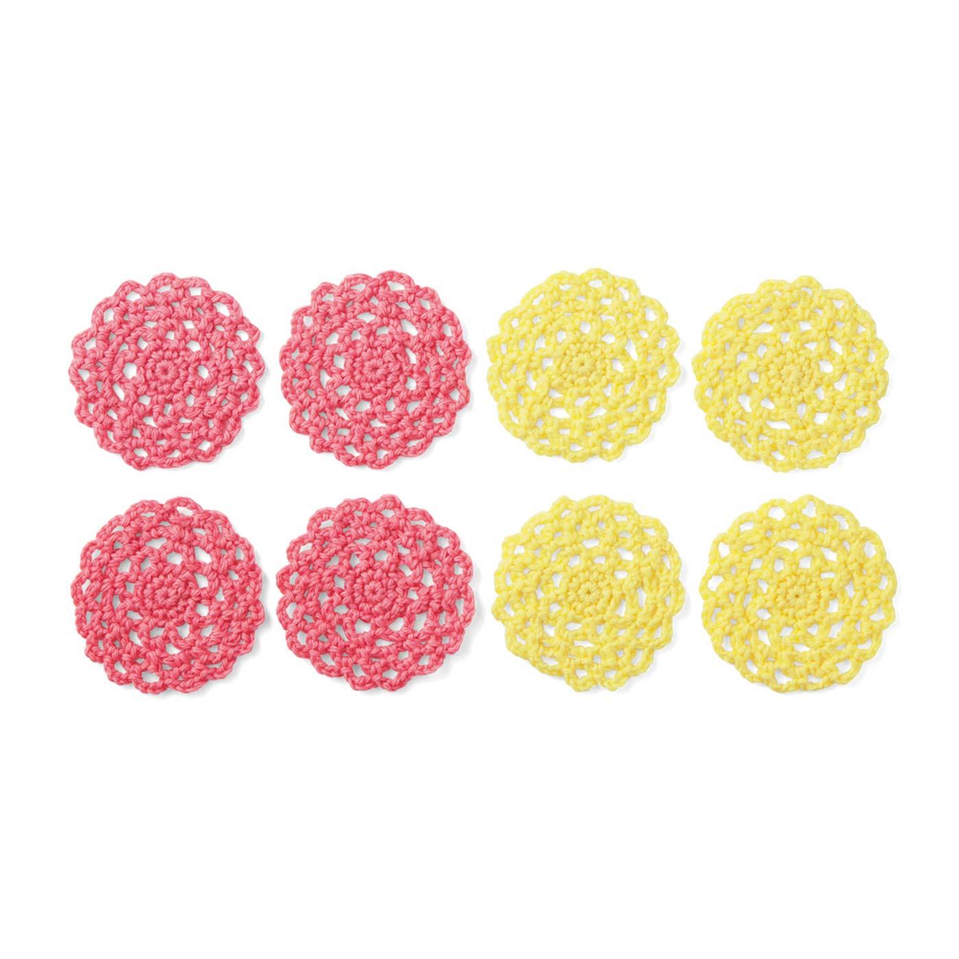 1回のキットで編む本番用モチーフは8枚。繰り返すことで、手が自然に覚えます。