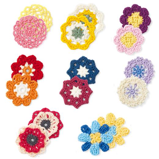 初心者さんでも、さまざまなお花モチーフが編めるように。