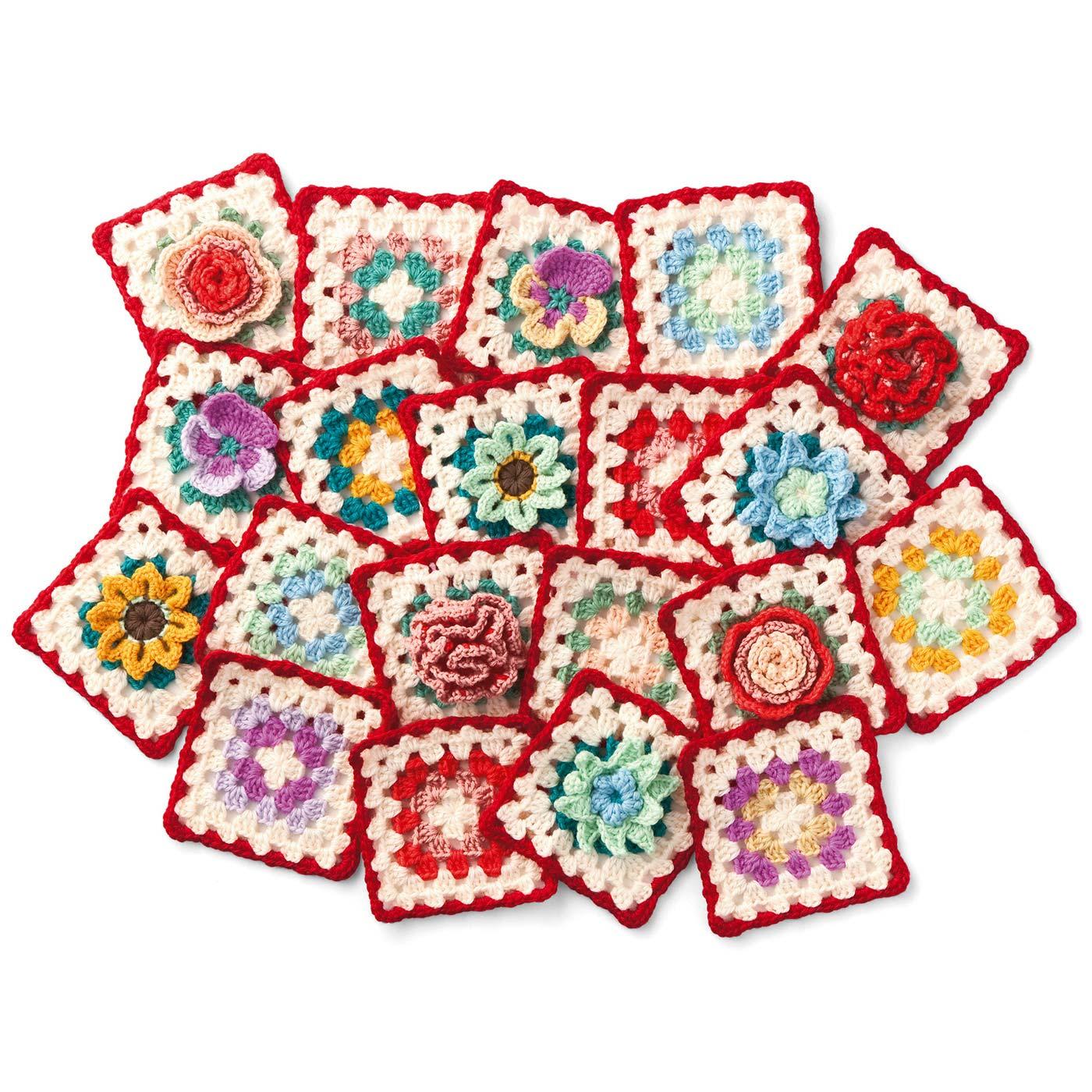 ゼラニウム、タチアオイ、ラナンキュラスなど、イングリッシュガーデンを思わせるお花が全12種類。