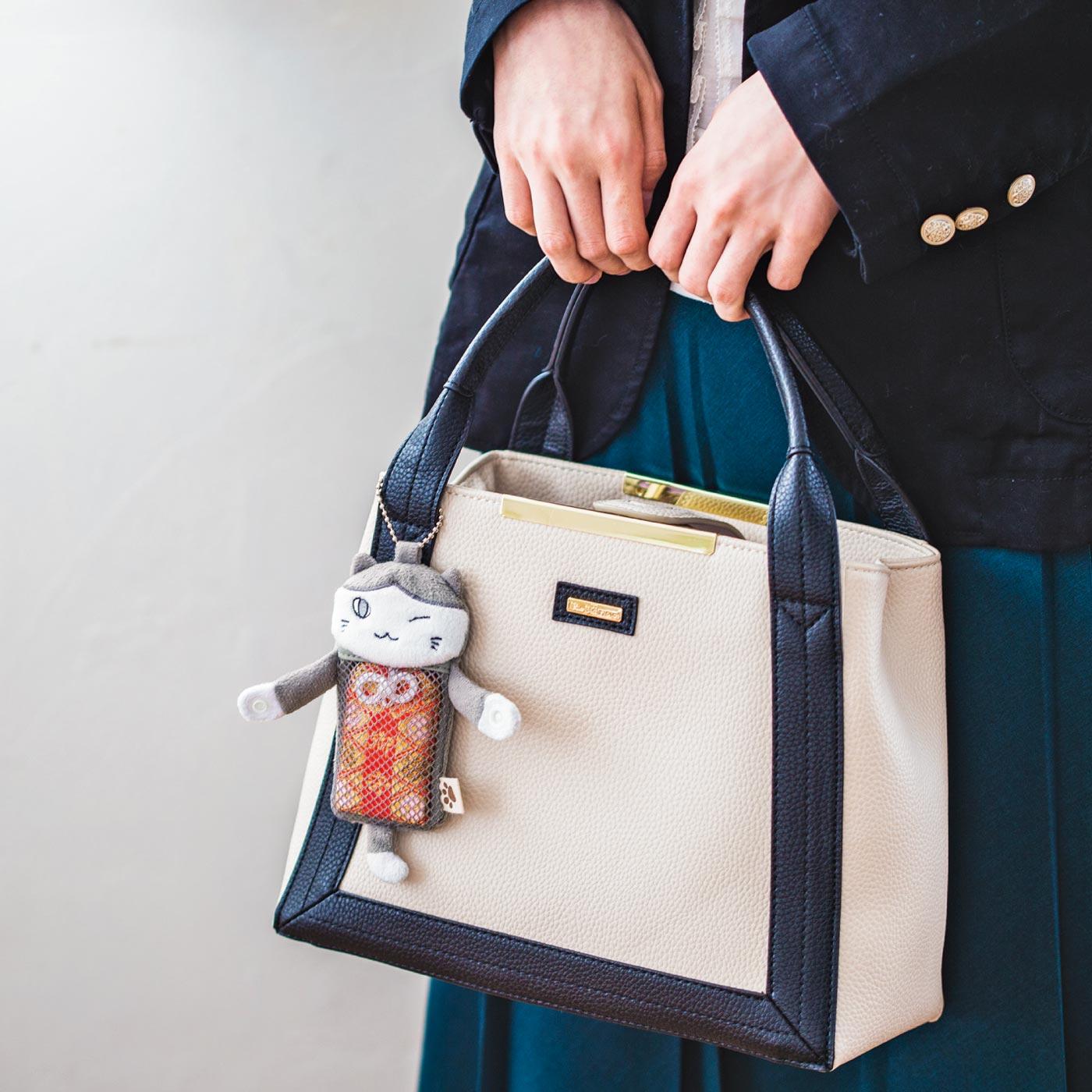 バッグチャームにして一緒にお出かけ。