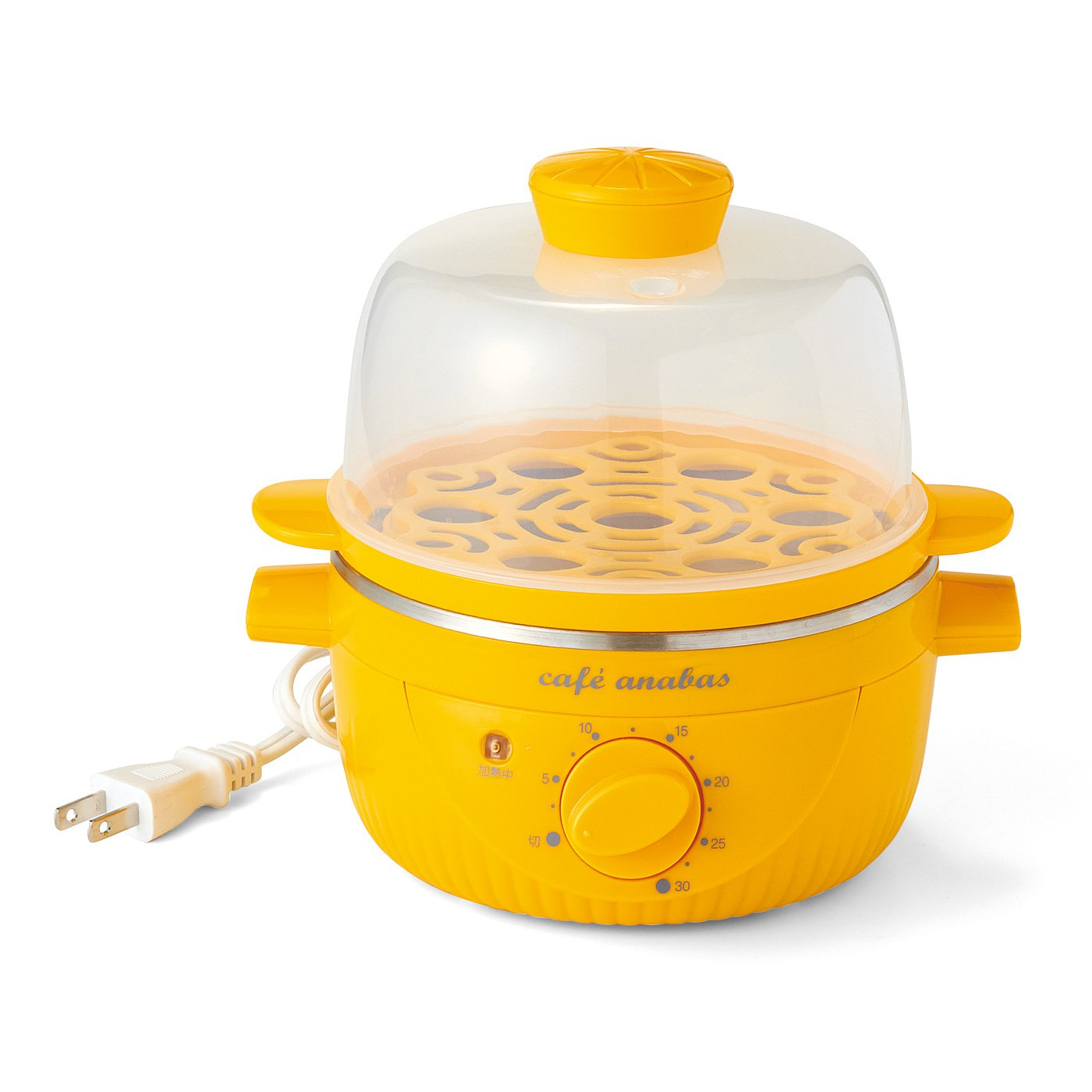 ゆで卵も蒸し野菜も作れる 簡単タイマー付き蒸し器