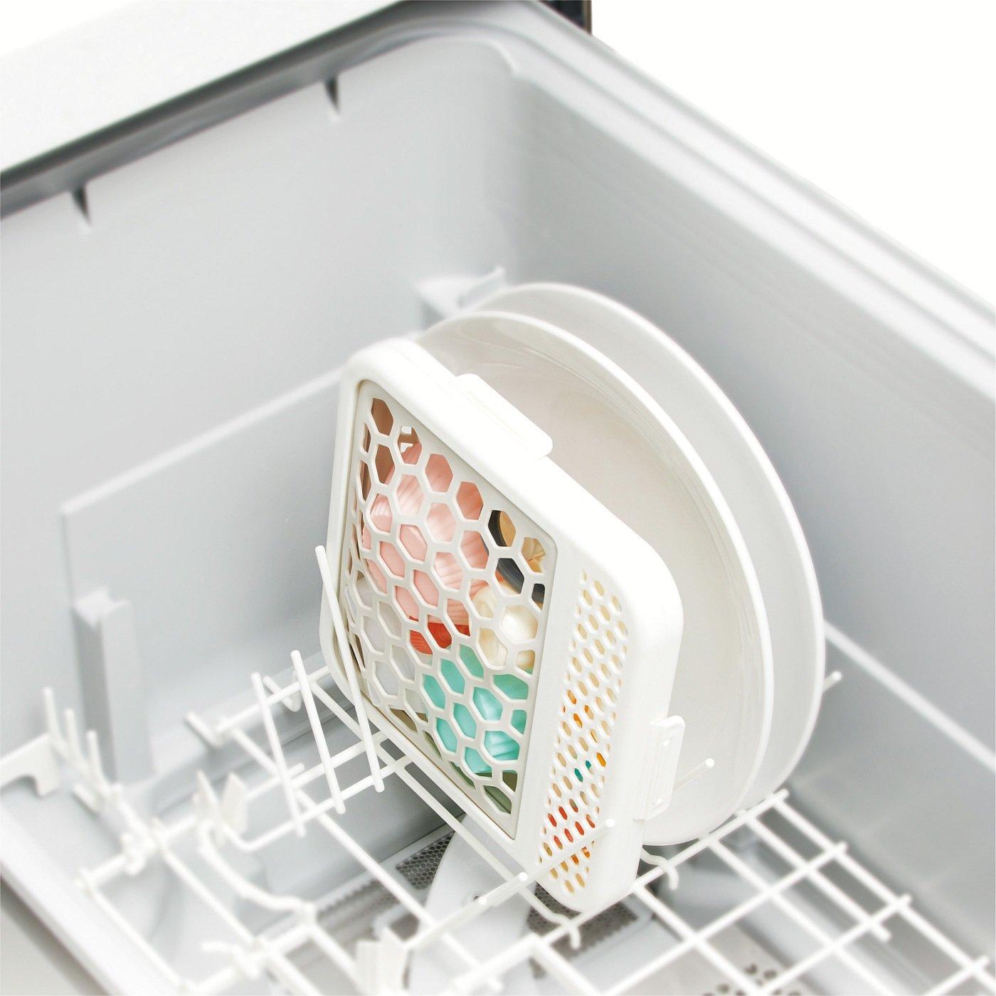 ネットが伸びてピタッとホールド! 食器洗い機用小物洗いネット