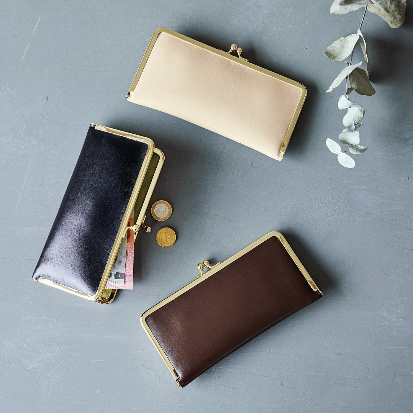el:ment お財布と人生に実りを 本革仕立てのぺたんこがま口財布の会