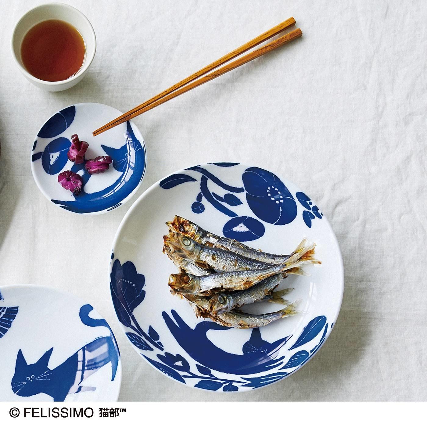 猫部×coco.a 和柄猫お皿セット 夢ごこち〈平皿〉の会